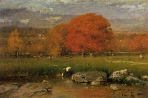 Landscape Artist George Crossword 19c American American Landscape Painter George