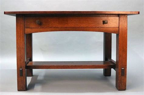 arts and crafts mission oak desk or by limbert