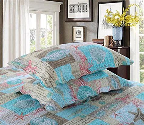 newrara seashell beach bedding queen beach theme quilt set