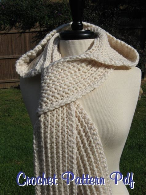 free pattern hooded scarf nordic hooded scarf crochet pattern pdf instant download