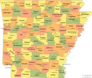 counties map arkansas county map