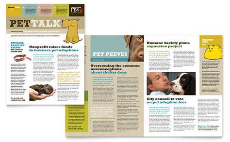animal shelter pet adoption newsletter template design