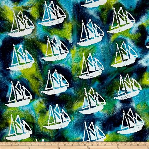 4948 Navy Batik Songket indian batik grove sail boat aqua olive blue discount designer fabric fabric