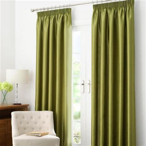 green pleated curtains green dakota lined pencil pleat curtains dunelm