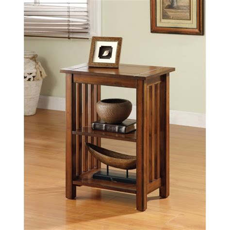 Style Accent L by Furniture Of America Murray Ii End Table In Antique Oak Idf Ac208