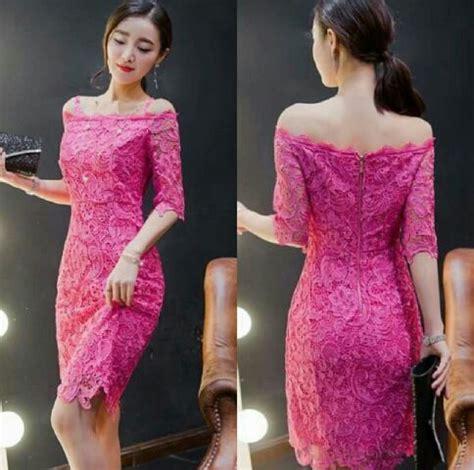 Mini Dress Terbaru Brukat baju mini dress pendek brukat dewasa model sabrina cantik