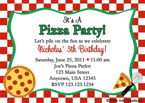 pizza birthday card template pizza invitations free invitations templates