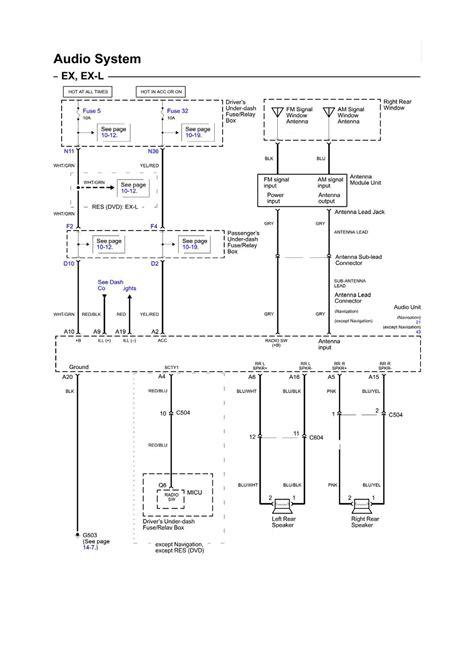 2007 honda osyssey factory stereo wiring diagram fasett info 2006 honda odyssey wiring diagram autos weblog