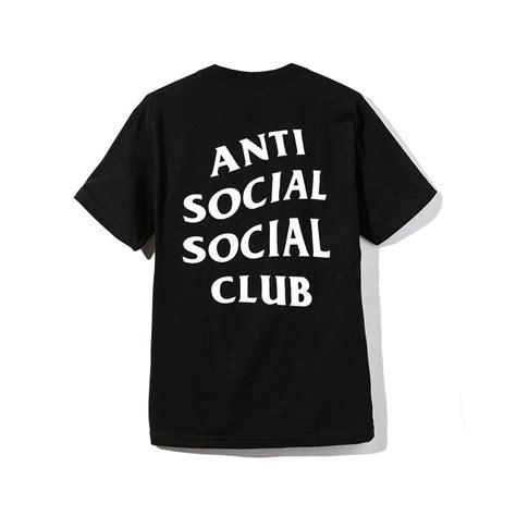 Kaos Tshirt Assc Font anti social social club black w white copvsdrop