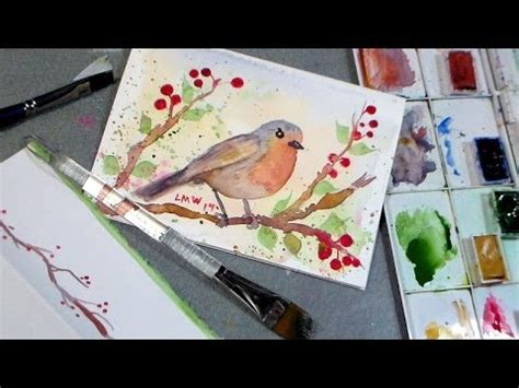 youtube tutorial paint robin watercolor tutorial youtube