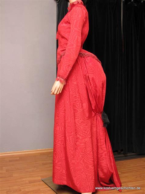 rotes viktorianisches kleid kostuemverleih