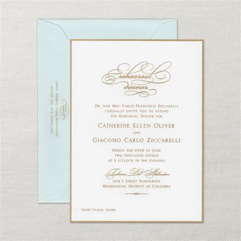 dinner invitation sle pearl white rehearsal dinner invitation with border