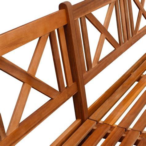 solid wood garden bench vidaxl garden bench solid acacia wood 240x56x90 cm brown