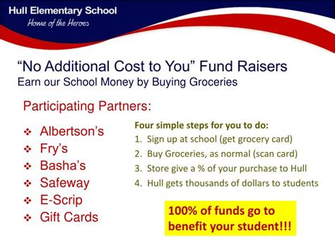 Additional Cost ppt no additional cost to you fund raisers earn our school money by buying groceries