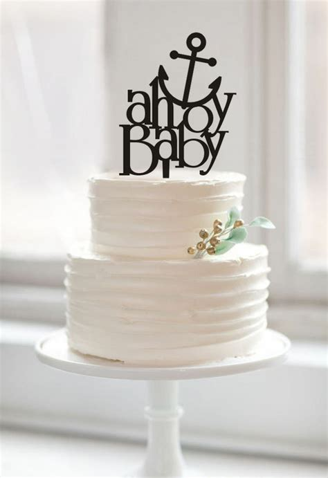 baby shower cake topper ahoy baby cake toppers custom