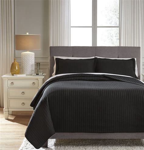 black coverlet king raleda black king coverlet set from ashley coleman furniture