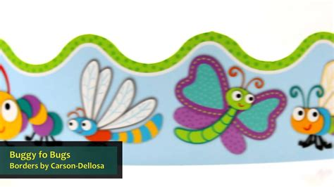 buggy for bugs nameplates by carson dellosa cd122118 buggy for bugs double sided borders by carson dellosa