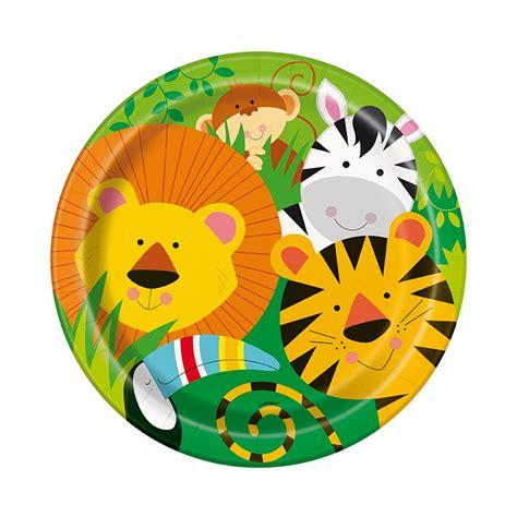Decoration Animaux De La Jungle by D 233 Co Anniversaire Enfant 8 Assiettes En Animaux