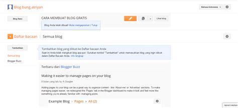 membuat blog gratis untuk pemula cara membuat blog gratis dan mudah untuk pemula di blogger