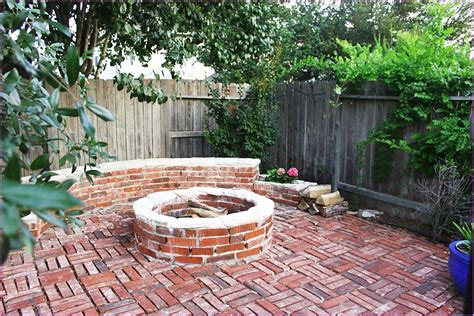 Red Brick Patio Designs The Home Design Brick Patio Patio With Pit Designs
