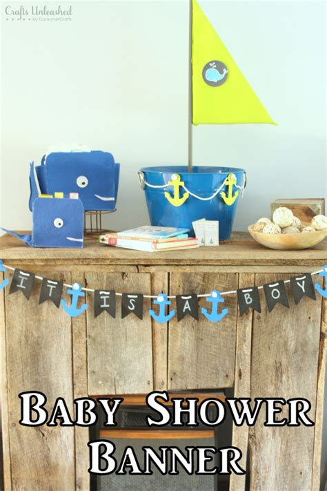 How To Make A Baby Shower Banner by Diy Baby Shower Banner Nautical Themed Crafts Unleashed