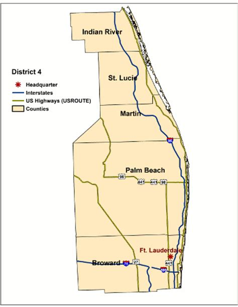 florida dot district map florida department of transportation district 4 surveying