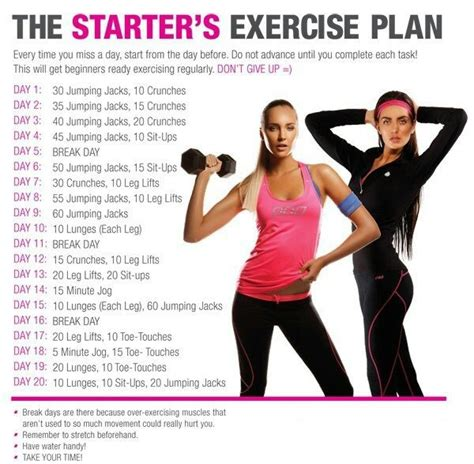 great beginner s exercise plan work outs