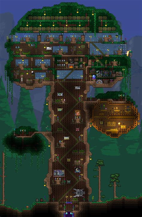house terraria starting tree house 1 3 fortresses living quarters terraria maps curse