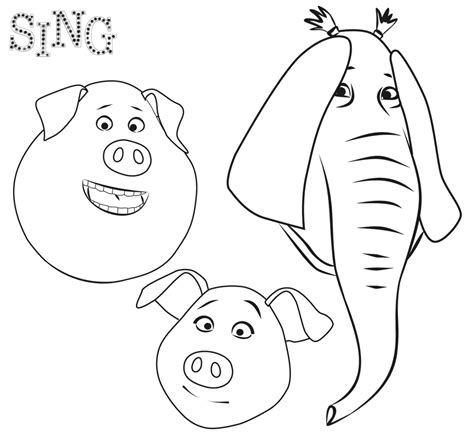 coloring pages for sing coloring pages best coloring pages for
