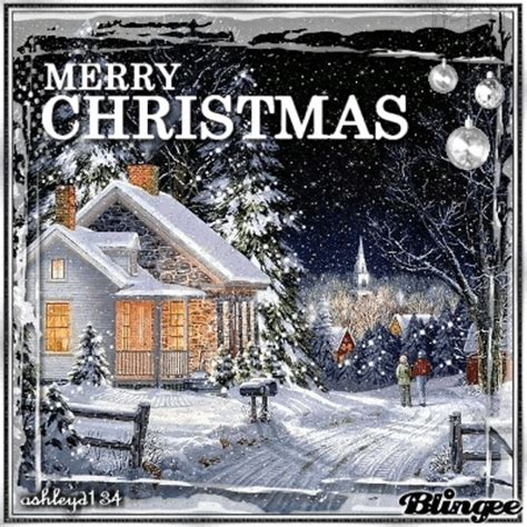 snow filled merry christmas gif pictures   images  facebook tumblr pinterest