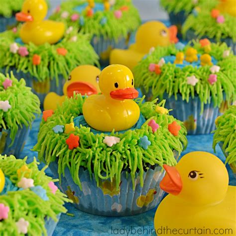 Rubber Duckie Baby Shower by Rubber Duckie Pond Baby Shower Cupcakes
