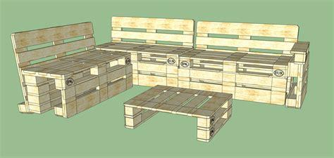 pallet bank bouwtekening euro pallet garden bank 3d cad model library grabcad