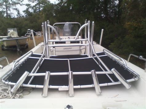 boat tower hinges fold down removable t tops cape point custom welding and