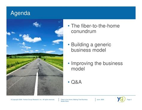 fiber to the home that business model work