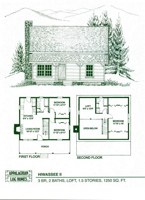 Cabin Floor Plans by Log Home Floor Plans Log Cabin Kits Appalachian Log