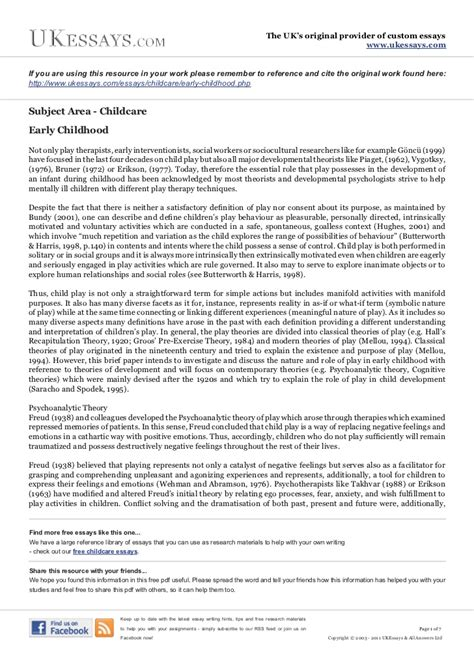 Early Childhood Essay by Childcare Essays Early Childhood