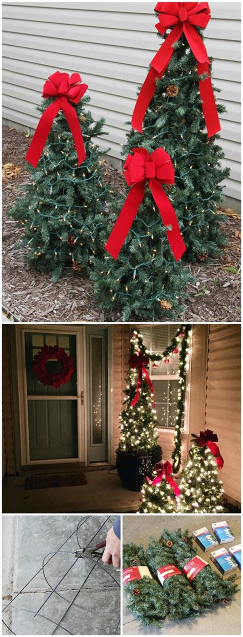 how to decorate an outside christmas tree 20 impossibly creative diy outdoor decorations diy crafts