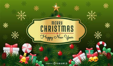 5 hermosas ideas para postales de feliz navidad para feliz navidad tarjeta con el 225 rbol de navidad y la