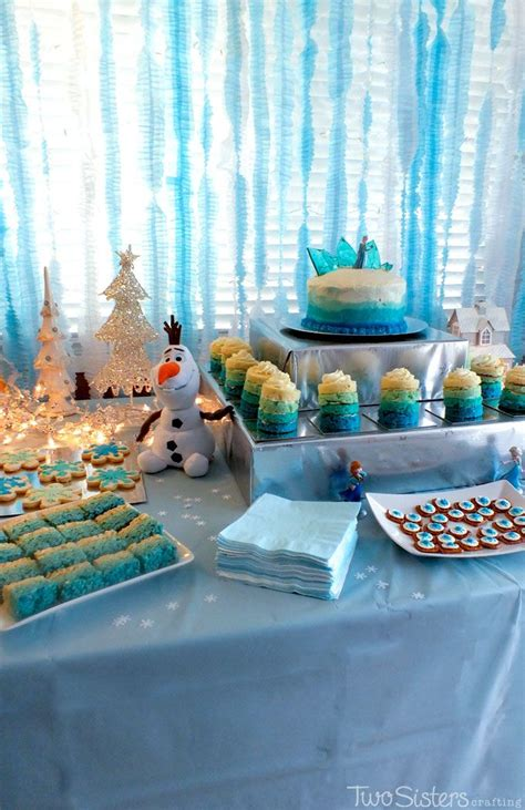 frozen themed party kelso 35 best images about dessert tables on pinterest
