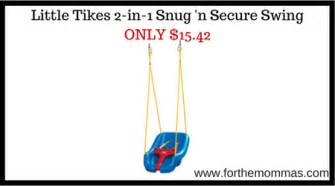 little tikes 2 in 1 snug n secure swing little tikes 2 in 1 snug n secure swing only 15 42