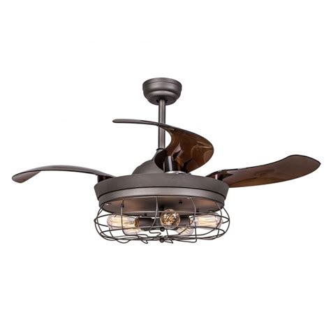 42 inch ceiling fan with remote 42 inch industrial caged ceiling fan with light and remote