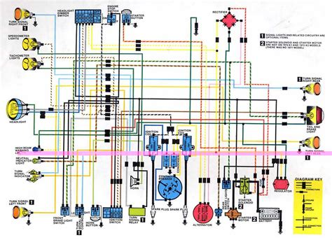 honda sl motorcycle complete wiring diagram   wiring diagrams