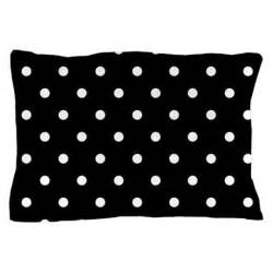 black and white polka dots pillow by beautifulbed
