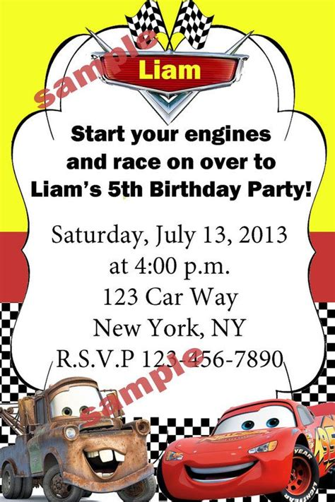 disney cars invitation templates disney cars birthday invitation by sivcreations on