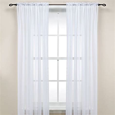 solid white curtain panels luxurydiscounts 1 piece solid white elegant sheer curtains
