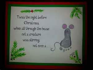 twas the night before christmas footprint craft
