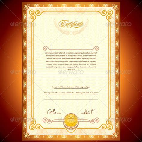 certificate design golden achievement certificate templates creative template