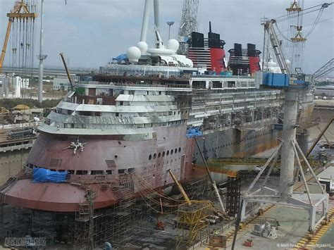 cruises in dry dock disney magic dry dock update the transformation begins