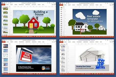 Real Estate Powerpoint Template – Real Estate 3D PowerPoint Template   Slidesbase
