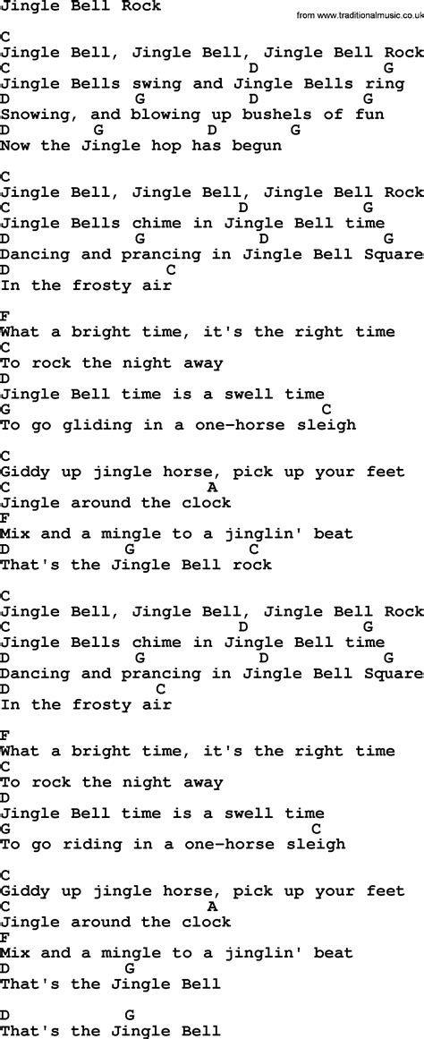 printable lyrics jingle bell rock jingle bell rock by george strait lyrics and chords